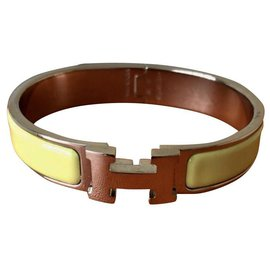 Hermès-Beautiful Bracelet Hermès click H nine never worn-Light green