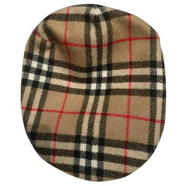 Burberry-Flat Cap Hat-Brown,Black,White,Red