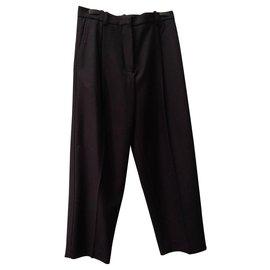 Acne-Pantalons, leggings-Bleu Marine
