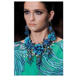 Gucci-collier de fleurs Gucci-Turquoise