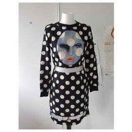 Alexander Mcqueen-Dresses-Black,Cream