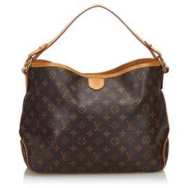 Louis Vuitton-Louis Vuitton Brown Monogram Delightful PM-Marron