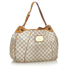 Louis Vuitton-Louis Vuitton White Damier Azur Galliera PM-Blanc