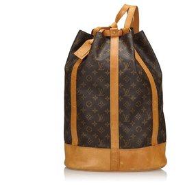 Louis Vuitton-Louis Vuitton Brown Monogram Randonnée GM-Marron