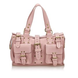 Mulberry-Mulberry Pink Leather Roxanne Shoulder Bag-Pink