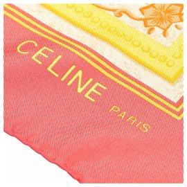 Céline-Celine Red Printed Silk Scarf-Red,Multiple colors