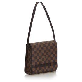 Louis Vuitton-Louis Vuitton Brown Damier Ebene Tribeca Mini-Marron
