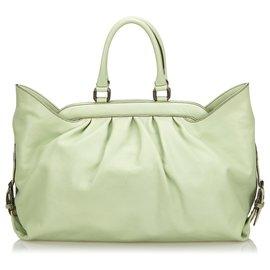 Fendi-Fendi Green Leather Handbag-Green,Light green
