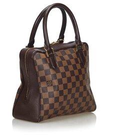 Louis Vuitton-Louis Vuitton Brown Damier Ebene Brera-Marron