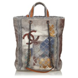 Chanel-Chanel Gray CC Graffiti Etoile Tote Bag-Multiple colors,Grey