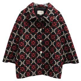 Gucci-Cape en laine de diamant GG Gucci-Autre