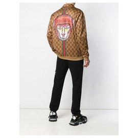 Gucci-Gucci zipped jacket-Brown
