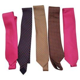 Hermès-Ties-Multiple colors