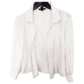 Louis Vuitton-Chemisé blanc + rose claire  très bon état-Rose,Blanc