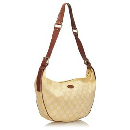 Céline-Celine White Macadam Canvas Shoulder Bag-White,Yellow