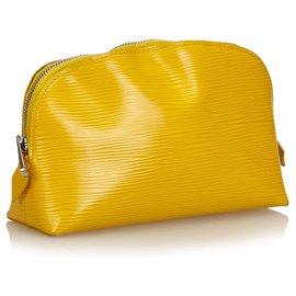 Louis Vuitton-Pochette Epi Jaune Louis Vuitton-Jaune