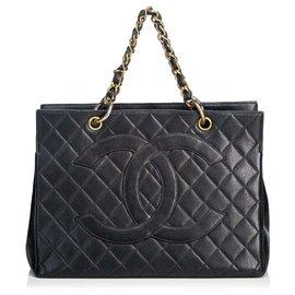 Chanel-Chanel Black Caviar Petite Timeless Tote-Black