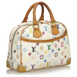 Louis Vuitton-Louis Vuitton White Monogram Multicolore Trouville-Blanc,Multicolore