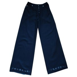 Kenzo-Pantalons, leggings-Noir