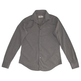 Thomas Burberry-chemises-Gris