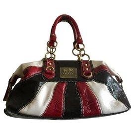 Coach-Coach Madison handbag-Black,White,Red