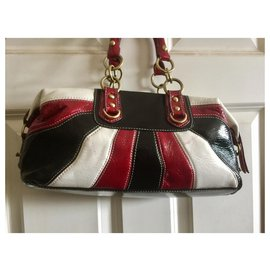 Coach-Coach Madison handbag-Black,White,Red