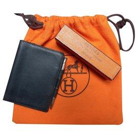 Hermès-Bourses, portefeuilles, cas-Noir