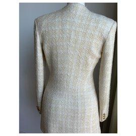 """Vertigo-Veste blanc cassé  style """"Chanel""""en lainage-Blanc cassé"""