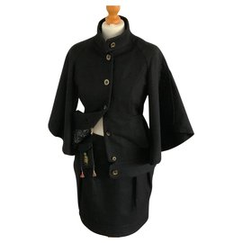 "Hugo Boss-Tailleur jupe noire avec jolie doublure ""Hugo Boss orange""-Noir"