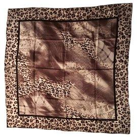 Jean Louis Scherrer-Square Silk 86 cm-Black,Grey