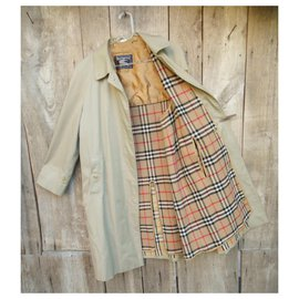 Burberry-Waterproof Burberry vintage size 44 with removable wool lining-Beige