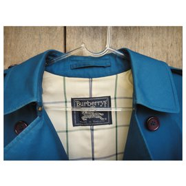 Burberry-Burberry Vintage Trencher 40 Color Blue France, Mint condition-Blue