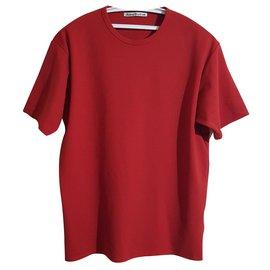 Acne-Camisas-Vermelho