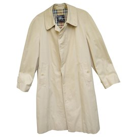Burberry-Waterproof Burberry vintage size 48 with removable wool lining-Beige