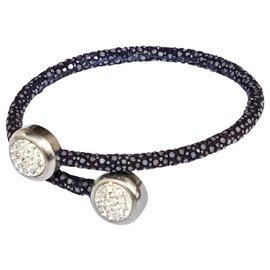 Autre Marque-Bracelet en galuchat bleu-Bleu