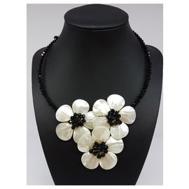 Autre Marque-Mother of pearl  necklace-Black