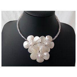 Autre Marque-Mother of pearl  necklace-White