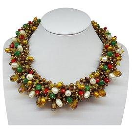 Autre Marque-Pearl necklace-Multiple colors