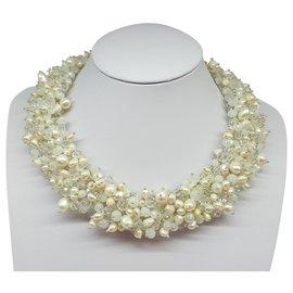 Autre Marque-Pearl necklace-White