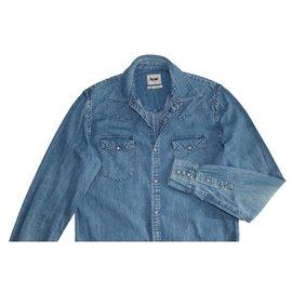 Acne-Shirts-Blue