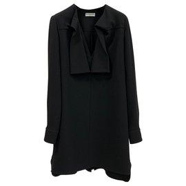 Balenciaga-Robe de soirée noire-Noir