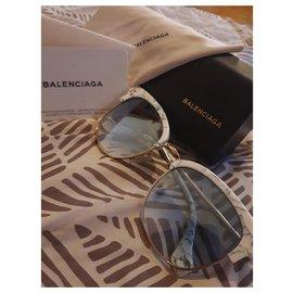 Balenciaga-Lunettes de soleil balenciaga-Blanc
