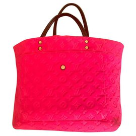 Louis Vuitton-limited edition monogram neoprene scuba MM tote bag-Fuschia
