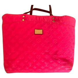 Louis Vuitton-sac cabas MM en néoprène édition limitée monogramme-Fuschia