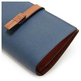 Loewe-Large verical wallet-Bleu