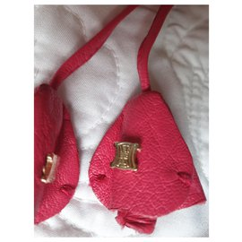 Céline-Leather Bag Charm-Pink