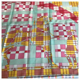 Hermès-checkered exlibris-Multiple colors