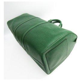 Louis Vuitton-Louis Vuitton Green Epi Keepall 55-Vert