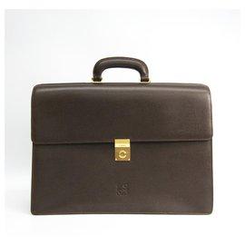 Loewe-Loewe Brown Leather Briefcase-Brown