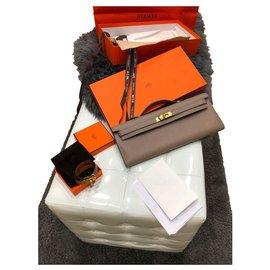 Hermès-Hermès Kelly cut-Grey